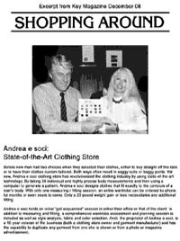 Andrea Custom Tailoring Shopping Around Article